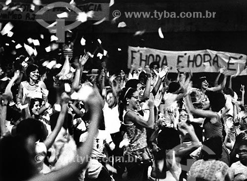 Mulheres na concha acústica da Universidade do Estado do Rio de Janeiro durante o Congresso das Mulheres Fluminenses  - Rio de Janeiro - Rio de Janeiro (RJ) - Brasil