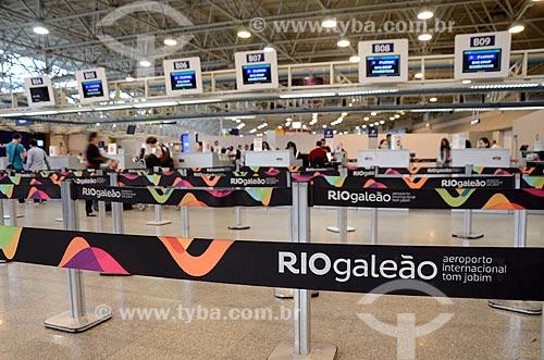 Área de embarque do Aeroporto Internacional Antônio Carlos Jobim  - Rio de Janeiro - Rio de Janeiro (RJ) - Brasil