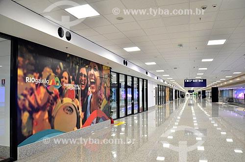 Corredor do Aeroporto Internacional Antônio Carlos Jobim  - Rio de Janeiro - Rio de Janeiro (RJ) - Brasil