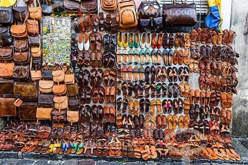 Peças de artesanato em couro à venda na cidade Salvador  - Salvador - Bahia (BA) - Brasil