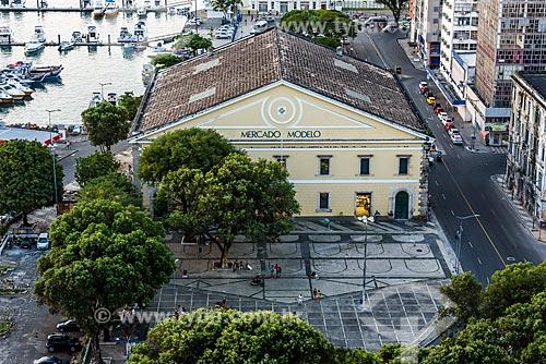 Vista do Mercado Modelo (1912) a partir do Elevador Lacerda  - Salvador - Bahia (BA) - Brasil