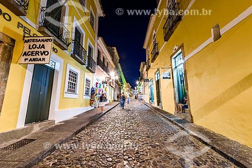 Vista da Rua Maciel de Baixo no Pelourinho  - Salvador - Bahia (BA) - Brasil