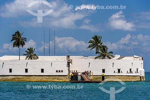 Vista do Forte de São Marcelo (Século XVII) a partir da Baía de Todos os Santos  - Salvador - Bahia (BA) - Brasil