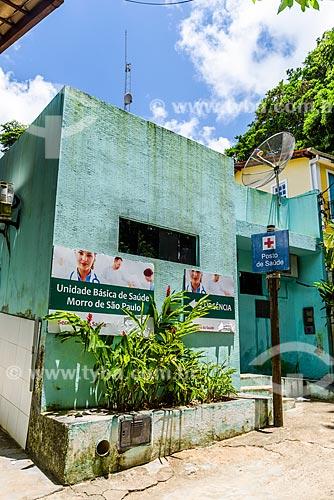 Fachada do posto de saúde no Morro de São Paulo  - Cairu - Bahia (BA) - Brasil