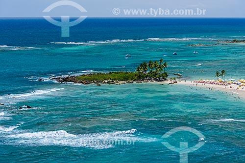 Vista geral da Ilha da Saudade  - Cairu - Bahia (BA) - Brasil