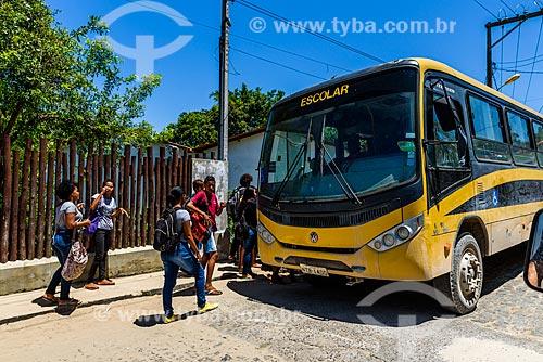 Ônibus Escolar no Morro de São Paulo  - Cairu - Bahia (BA) - Brasil