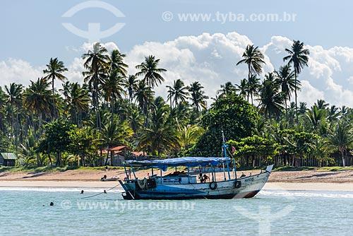 Traineira na Praia de Garapuá  - Cairu - Bahia (BA) - Brasil