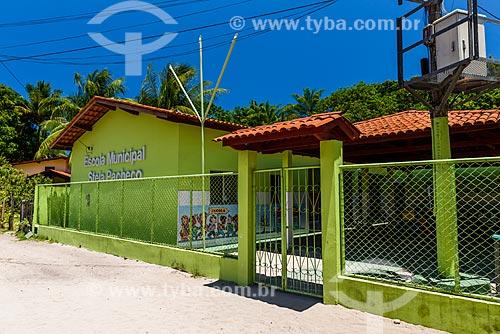Fachada da Escola Municipal Stela Pacheco na Vila de Velha Boipeba  - Cairu - Bahia (BA) - Brasil