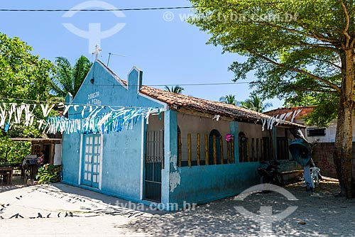 Fachada da Igreja de São Pedro na Vila de Velha Boipeba  - Cairu - Bahia (BA) - Brasil
