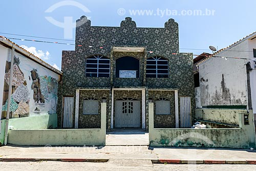 Fachada de templo da Assembléia de Deus na Vila de Velha Boipeba  - Cairu - Bahia (BA) - Brasil