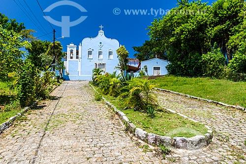Fachada da Igreja do Divino Espírito Santo de Velha Boipeba  - Cairu - Bahia (BA) - Brasil