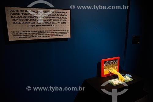 Computador (Computer) - 5.690 peças - Exposição - Art Of The Brick - de esculturas de blocos de LEGO do artista Nathan Sawaya no Museu Histórico Nacional  - Rio de Janeiro - Rio de Janeiro (RJ) - Brasil