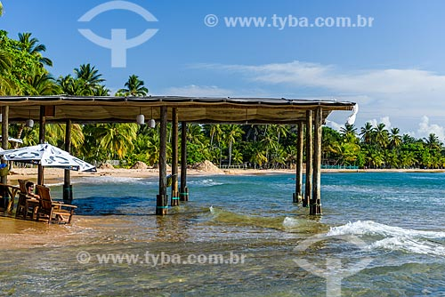 Tenda na Praia da Ponta do Mutá  - Maraú - Bahia (BA) - Brasil