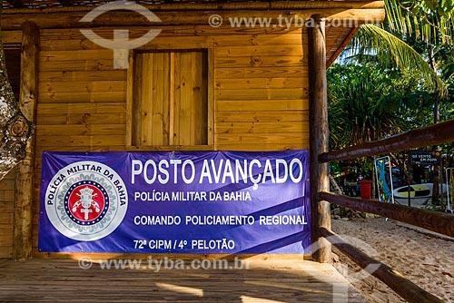 Cabine da Polícia na Vila de Barra Grande  - Maraú - Bahia (BA) - Brasil