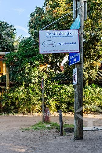 Ponto de táxi na Vila de Barra Grande  - Maraú - Bahia (BA) - Brasil