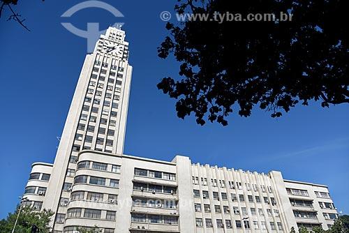 Torre do relógio da Estação Ferroviária Central do Brasil - antiga Estrada de Ferro Dom Pedro II  - Rio de Janeiro - Rio de Janeiro (RJ) - Brasil