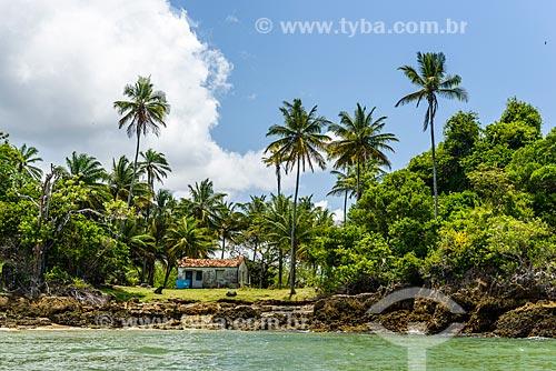 Vista da Ilha Grande de Camamu a partir da Baía de Camamu  - Camamu - Bahia (BA) - Brasil