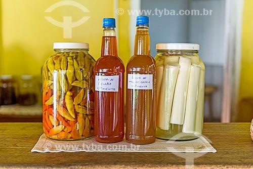Alimento em conserva e licores no Restaurante Ilha Veneza  - Maraú - Bahia (BA) - Brasil