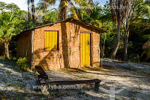 Casa de pau-a-pique na Península de Maraú  - Maraú - Bahia (BA) - Brasil