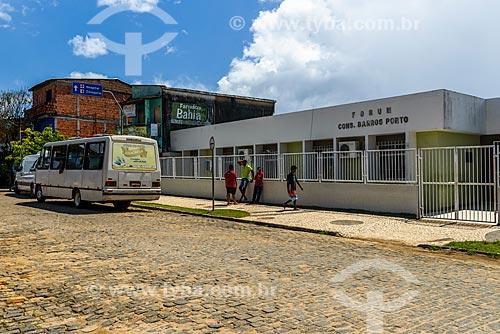 Fachada do Fórum Cível da cidade de Itacaré - Conselheiro Barros Porto  - Itacaré - Bahia (BA) - Brasil