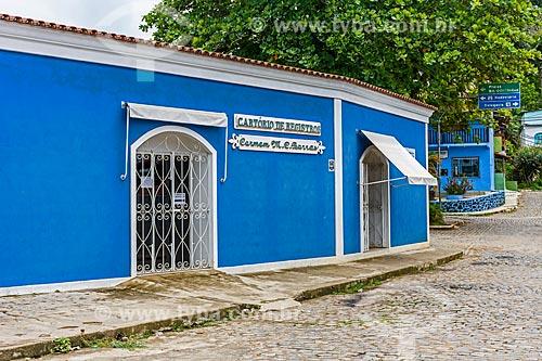 Fachada do Cartório de Registro Civil Carmem M. C. Barros  - Itacaré - Bahia (BA) - Brasil