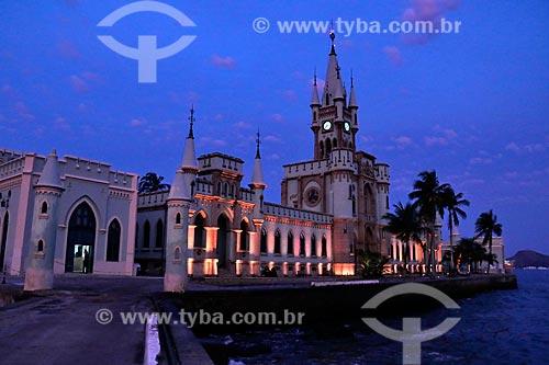 Vista do castelo da Ilha Fiscal  - Rio de Janeiro - Rio de Janeiro (RJ) - Brasil