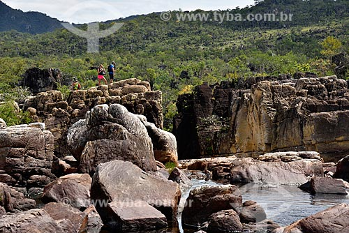 Vista do Rio Preto próximo ao Cânion 2 no Parque Nacional da Chapada dos Veadeiros  - Alto Paraíso de Goiás - Goiás (GO) - Brasil