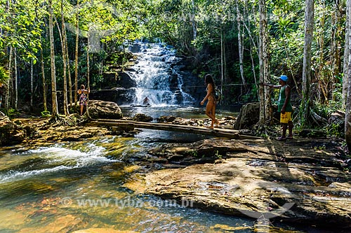 Banhistas na Cachoeira do Cleandro  - Itacaré - Bahia (BA) - Brasil
