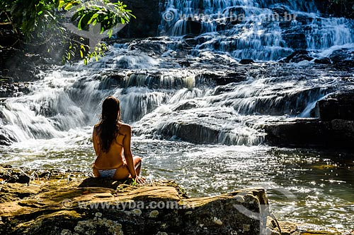 Mulher na Cachoeira do Cleandro  - Itacaré - Bahia (BA) - Brasil