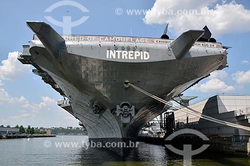Porta-aviões da Segunda Guerra Mundial USS Intrepid - Museu Intrepid (1982)  - Cidade de Nova Iorque - Nova Iorque - Estados Unidos