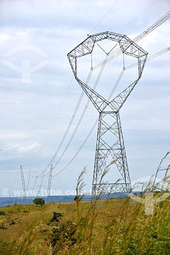 Torre de Transmissão de energia elétrica - Serra da Mesa 2  - Planaltina - Goiás (GO) - Brasil