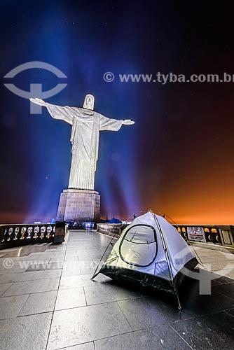 Barraca no mirante do Cristo Redentor  - Rio de Janeiro - Rio de Janeiro (RJ) - Brasil