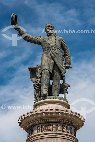 Detalhe da estátua do Almirante Barroso (1909) na Praça Paris  - Rio de Janeiro - Rio de Janeiro (RJ) - Brasil