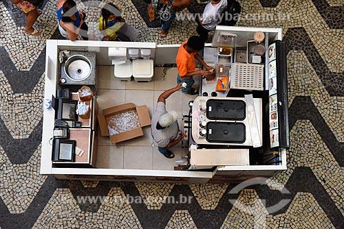 Vista de cima de quiosque no interior do Shopping São Luíz - também conhecido como Shopping dos Peixinhos  - Rio de Janeiro - Rio de Janeiro (RJ) - Brasil