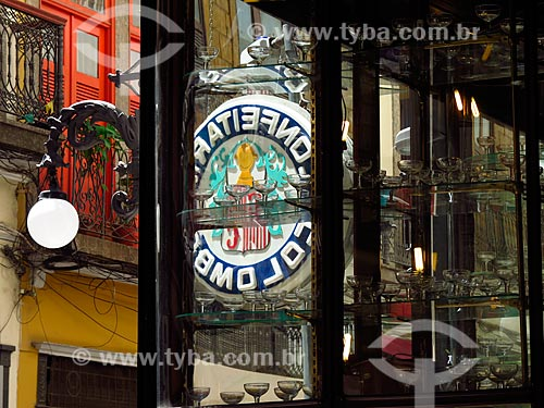 Reflexo da fachada da Confeitaria Colombo (1894)  - Rio de Janeiro - Rio de Janeiro (RJ) - Brasil