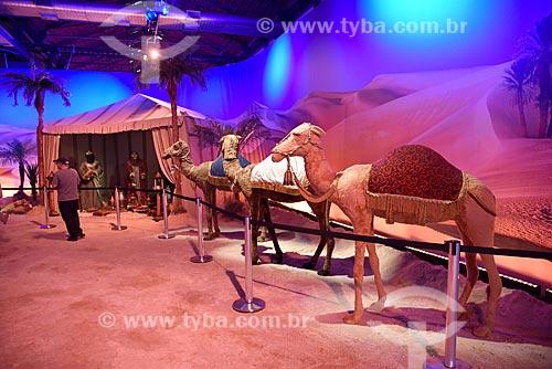 Boneco dos Três reis magos na exposição Uma Aventura de Natal - no Armazém 2 do Cais da Gamboa  - Rio de Janeiro - Rio de Janeiro (RJ) - Brasil