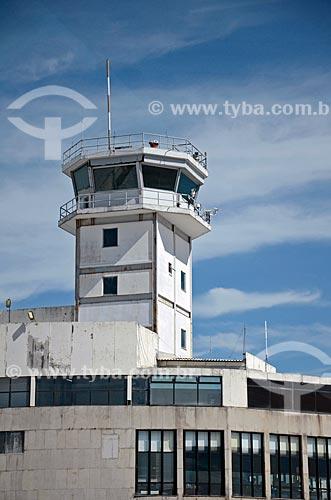 Detalhe da torre de controle do Aeroporto Santos Dumont  - Rio de Janeiro - Rio de Janeiro (RJ) - Brasil