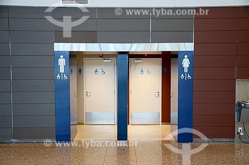 Banheiro masculino e feminino do Aeroporto Internacional de Viracopos  - Campinas - São Paulo (SP) - Brasil