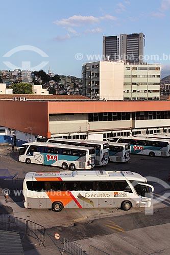 Ônibus na Rodoviária Novo Rio  - Rio de Janeiro - Rio de Janeiro (RJ) - Brasil