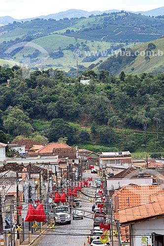 Vista geral da cidade de Soledade de Minas a partir da Rua Manoel Guimarães com a Serra da Mantiqueira ao fundo  - Soledade de Minas - Minas Gerais (MG) - Brasil
