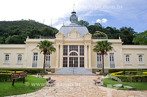 Fachada do Balneário Centro Hidroterápico no Parque Dr. Lisandro Carneiro Guimarães (Parque das Águas de Caxambu)  - Caxambu - Minas Gerais (MG) - Brasil