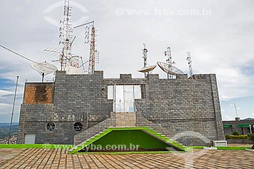 Torres de telecomunicações no Morro do Cruzeiro  - Caxambu - Minas Gerais (MG) - Brasil