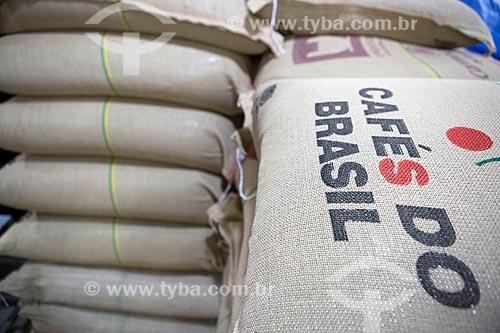 Detalhe de sacas de café da Unique Cafés  - Carmo de Minas - Minas Gerais (MG) - Brasil