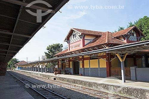 Fachada da Estação Ferroviária de São Lourenço  - São Lourenço - Minas Gerais (MG) - Brasil