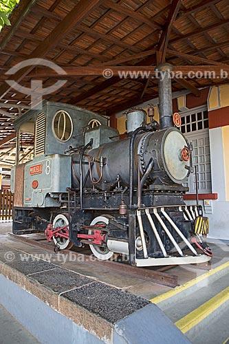 Locomotiva Lokomotivfabrik Krauss & Comp 8, Alemanha 2761 (1892) - em exibição na Estação Ferroviária de São Lourenço  - São Lourenço - Minas Gerais (MG) - Brasil