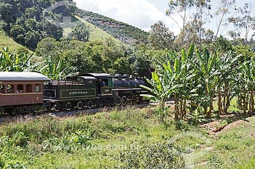 Locomotiva The Baldwin Locomotive Works 1424, USA 59712 (1927) fazendo o passeio turístico entre as cidades de São Lourenço e Soledade de Minas  - São Lourenço - Minas Gerais (MG) - Brasil