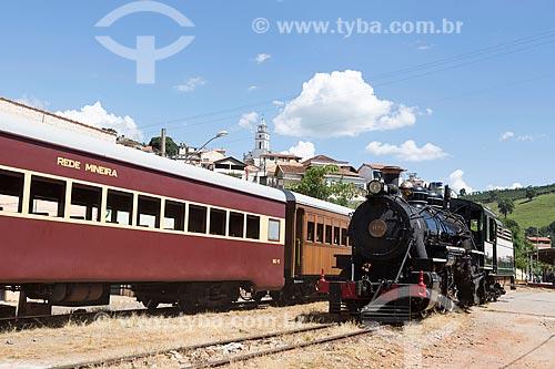 Locomotiva The Baldwin Locomotive Works 1424, USA 59712 (1927) fazendo o passeio turístico entre as cidades de São Lourenço e Soledade de Minas  - Soledade de Minas - Minas Gerais (MG) - Brasil