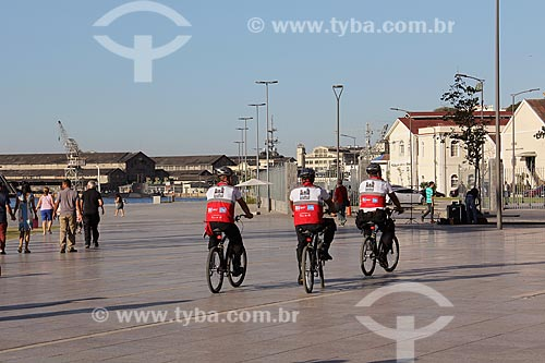 Policiamento com bicicletas da Operação Centro Presente na Praça Mauá  - Rio de Janeiro - Rio de Janeiro (RJ) - Brasil