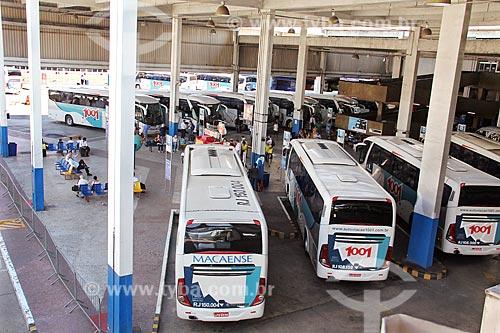 Ônibus no setor de embarque do Terminal Rodoviário do Rio de Janeiro  - Rio de Janeiro - Rio de Janeiro (RJ) - Brasil