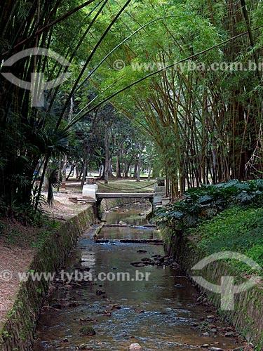 Canal do Rio dos Macacos no Jardim Botânico do Rio de Janeiro  - Rio de Janeiro - Rio de Janeiro (RJ) - Brasil